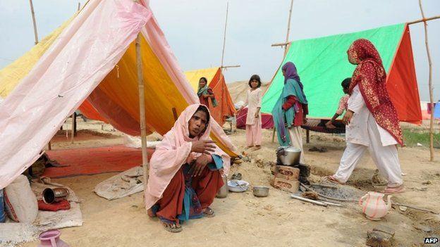 A relief camp in Muzaffarnagar