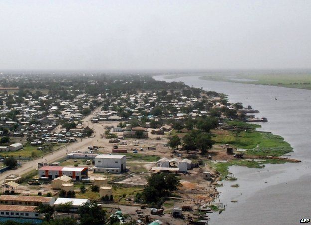 An aerial view of Malakal, South Sudan (file image)