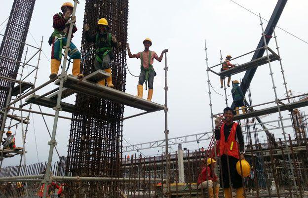 Ikea store in Jakarta under construction
