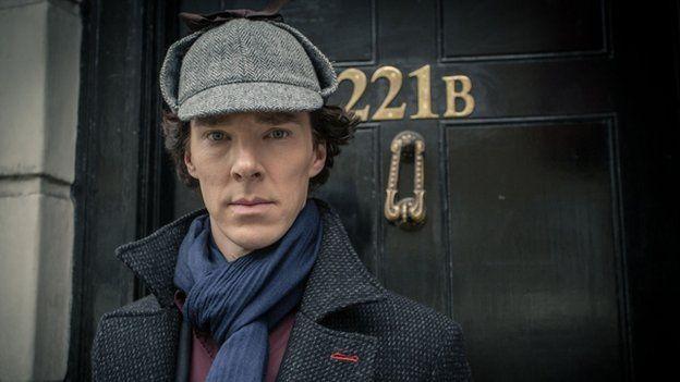 Actor Benedict Cumberbatch plays the detective Sherlock Holmes in the British TV drama Sherlock