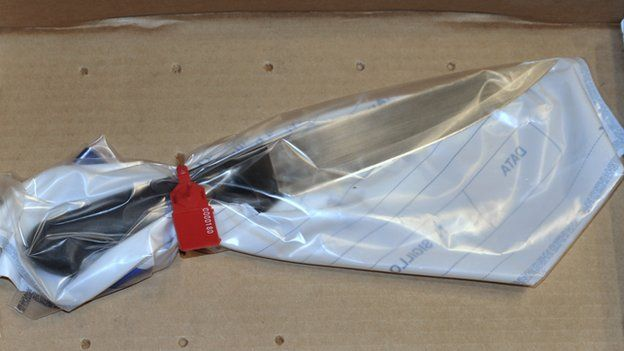 The knife said to have been used in Meredith Kercher's killing