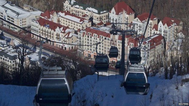 The ski resort of Krasnaya Polyana, near Sochi, 3 January 2014