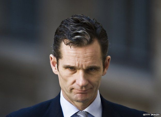 Inaki Urdangarin arrives at the courthouse of Palma de Mallorca to give evidence, 25 February 2012