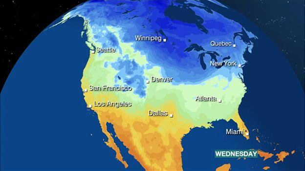 Big freeze shatters North America temperature records - BBC News