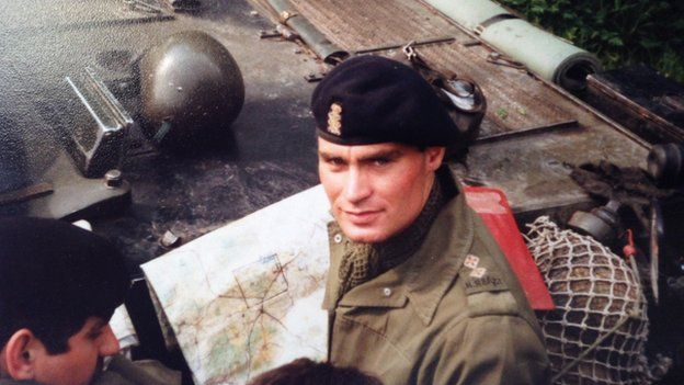 Crispin Blunt in the Army