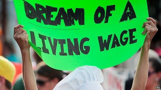 Living wage banner