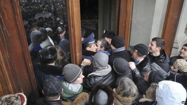 Attack on the governor's office in Lviv, 23 Jan