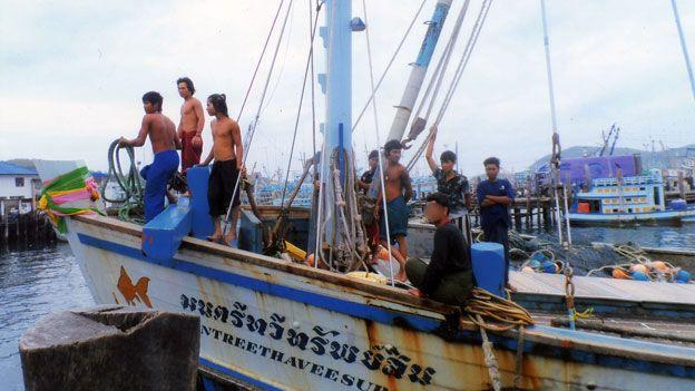 Ken's boat arrives in port