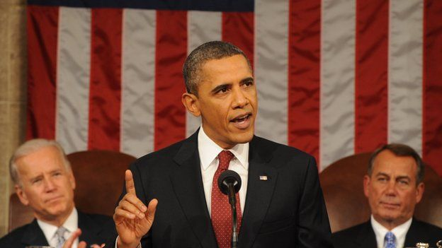 Obama speaks at the State of the Union in 2013