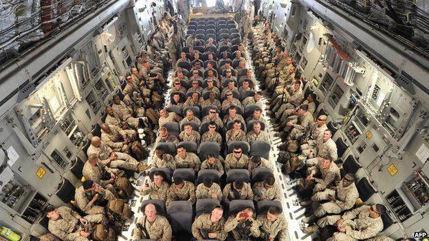US troops travelling to Afghanistan