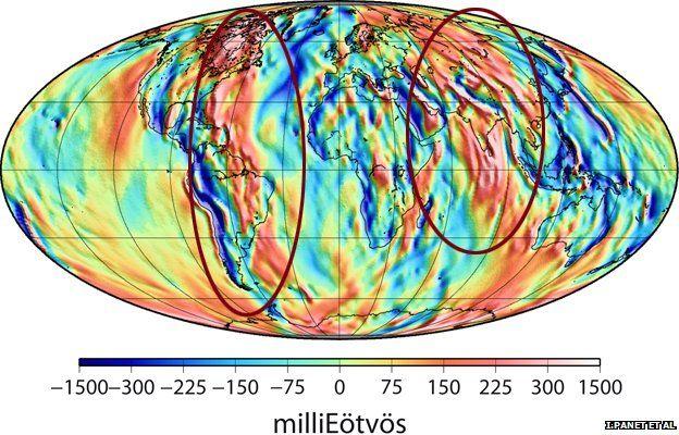 YY - West looking gravity gradients