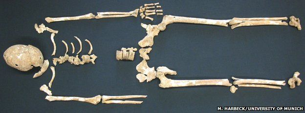 The skeletal remains of plague victims found in Germany