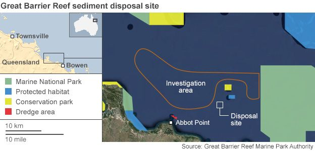 Map showing the location of the sediment disposal site