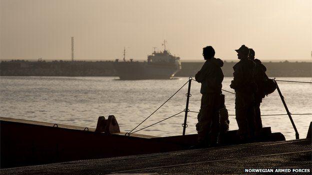 Norwegian cargo vessel Taiko at Latakia (Jan 2014)