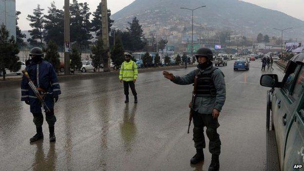Security in Kabul, 2 Feb