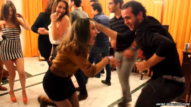 A still from the Happy (We Are From Bizerta) video