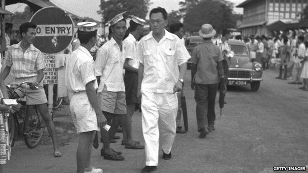 Lee Kuan Yew during a 1958 by election