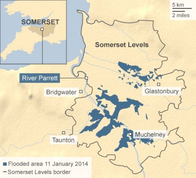 map of flooding in somerset