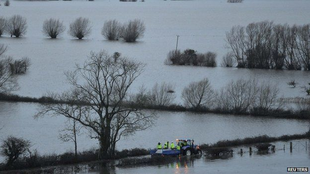 Flooding on Somerset Levels