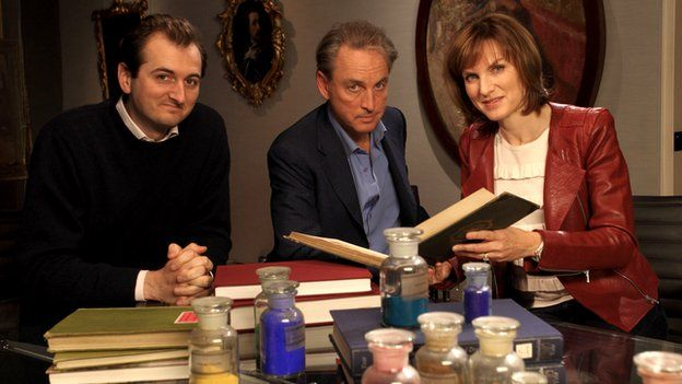 Bendor Grosvenor, Philip Mould, and Fiona Bruce from Fake or Fortune