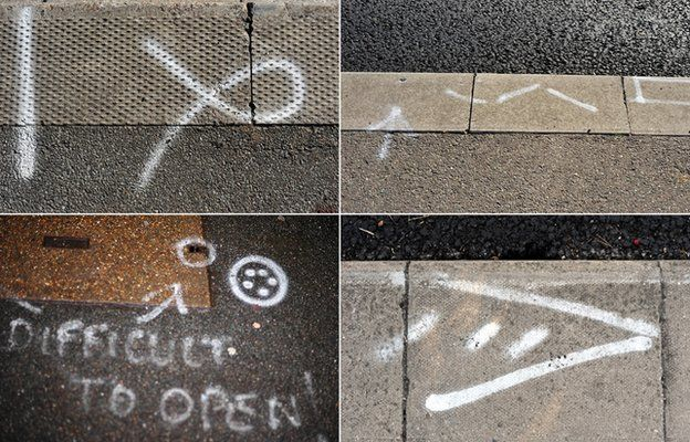 what do those squiggles on the pavement actually mean bbc news