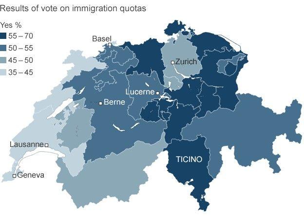 Swiss voting pattern, 9 Feb 14