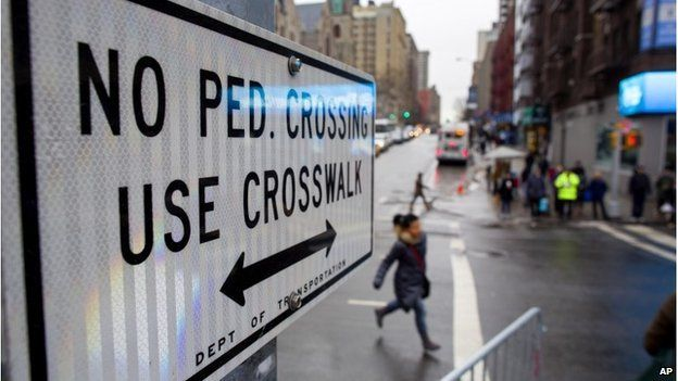 Road sign in New York