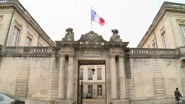 The prefectural office - representing central government - in Chalons