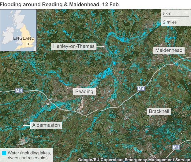 map flooding around reading and maidenhead