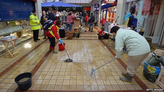 Volunteers help clean up the Angel centre in Tonbridge