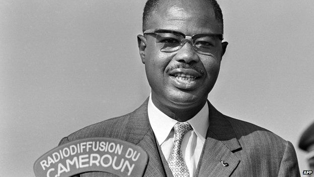 Cameroonian President Ahmadou Ahidjo speaking in February 1971