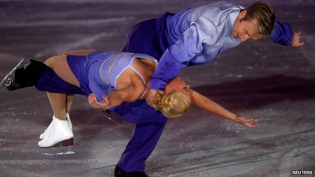 Torvill and Dean perform in Sarajevo on 13 February 2014
