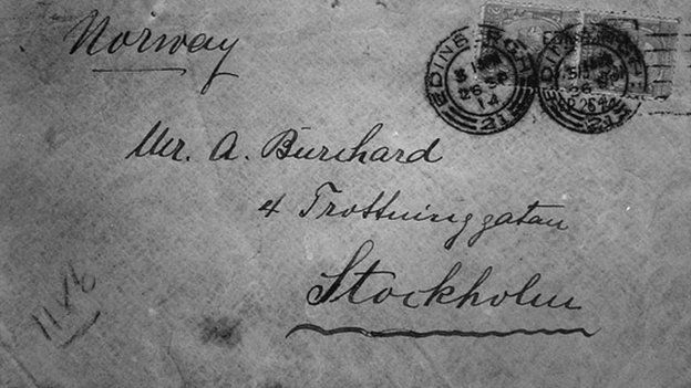 Lody sent his letters to Adolf Buchard in Stockholm