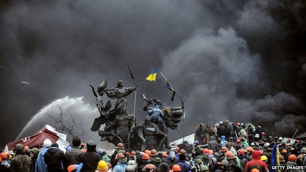 Clashes in the centre of Kiev last week