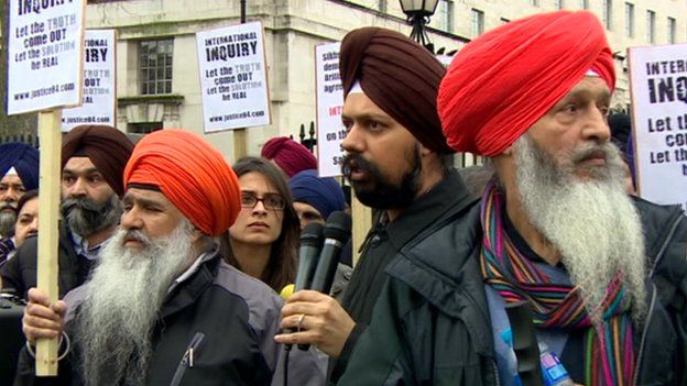Sikh protest at Downing Street