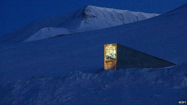Seed vault entrance (Image: Global Crop Diversity Trust)