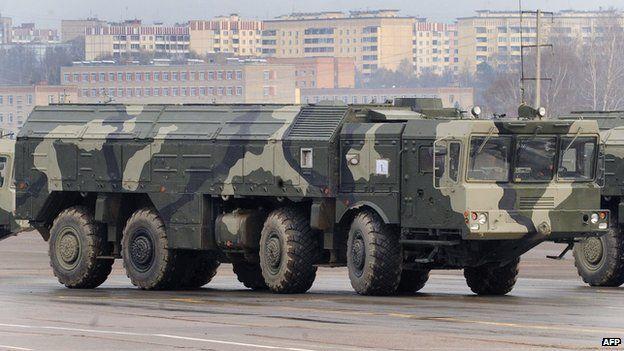 Russian Iskander ballistic missile launcher April 20, 2010