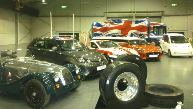 Morgan, MG, Aston Martin, Jaguar, Microcab, and tyres from Goodyear and Michelin