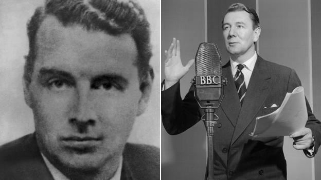 Guy Burgess (AP), left, and Michael Redgrave (BBC)