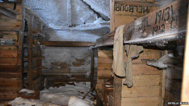 Inside Cape Denison huts