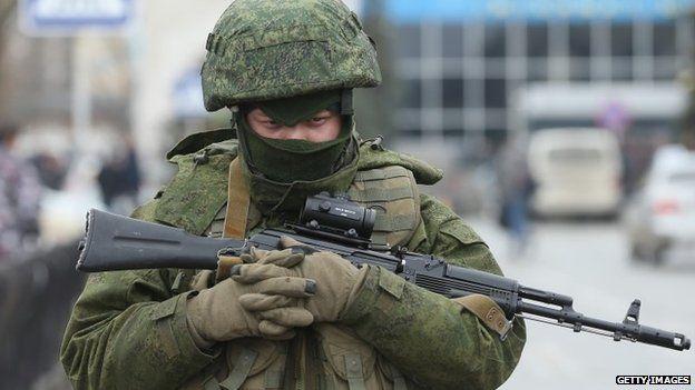 Armed man at Simferopol airport