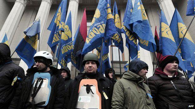 Svoboda protest in Kiev (27 Feb)