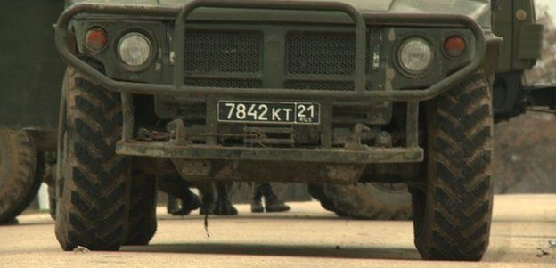 Russian number plate at Belbek airbase