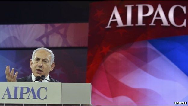 Benjamin Netanyahu addresses AIPAC's annual conference in Washington (4 March 2014)