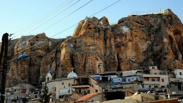 Maaloula village, northeast of the capital Damascus, Syria
