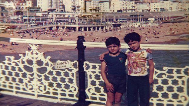 Waheed and Hafeez Majeed at Brighton as boys