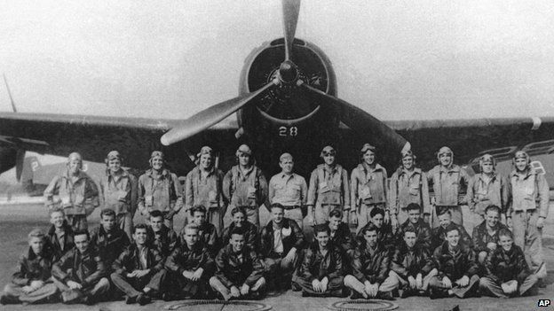 Crew members who flew on the Flight 19 mission in 1945