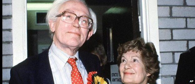 Then Labour leader Michael Foot with wife Jill during the 1983 election campaign