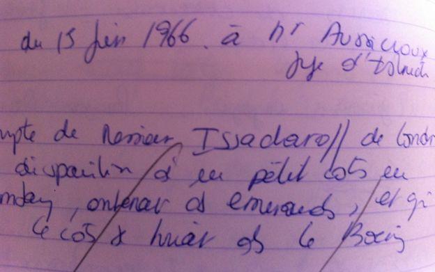 Francoise Rey's notes