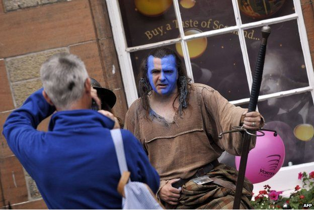 William Wallace impersonator